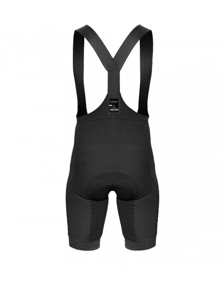 Men's merino wool bibs with plant-based reinforcements and cargo pockets - back