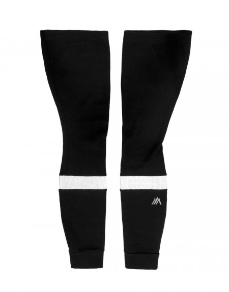 Merino wool cycling leg warmers with reflective detail