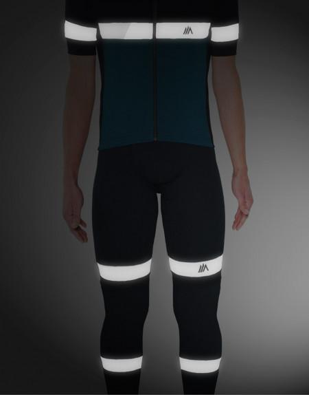 Perneras largas ciclismo de lana merina con detalle reflectante