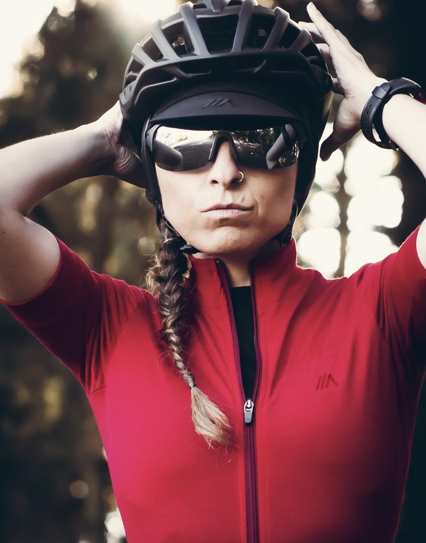 Gorra ciclismo de lana con orejeras de lana merina