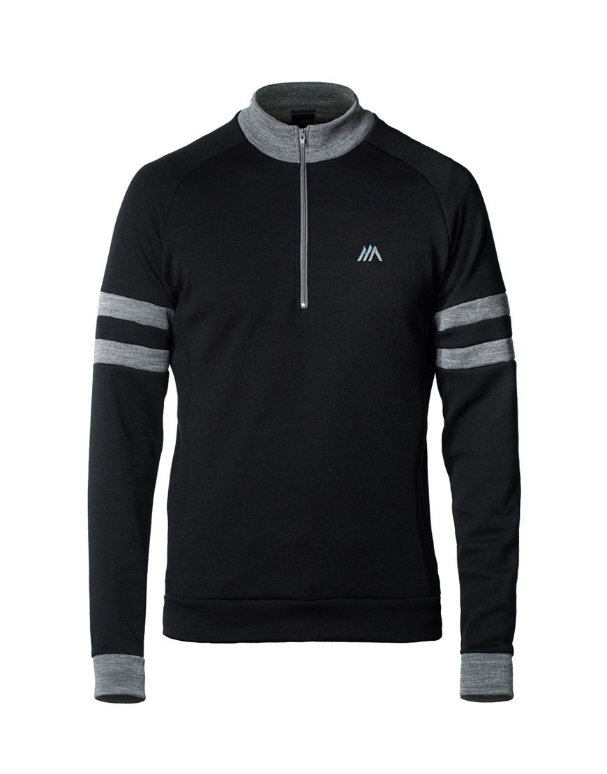 Classic merino wool cycling jersey with block-letter embroidery