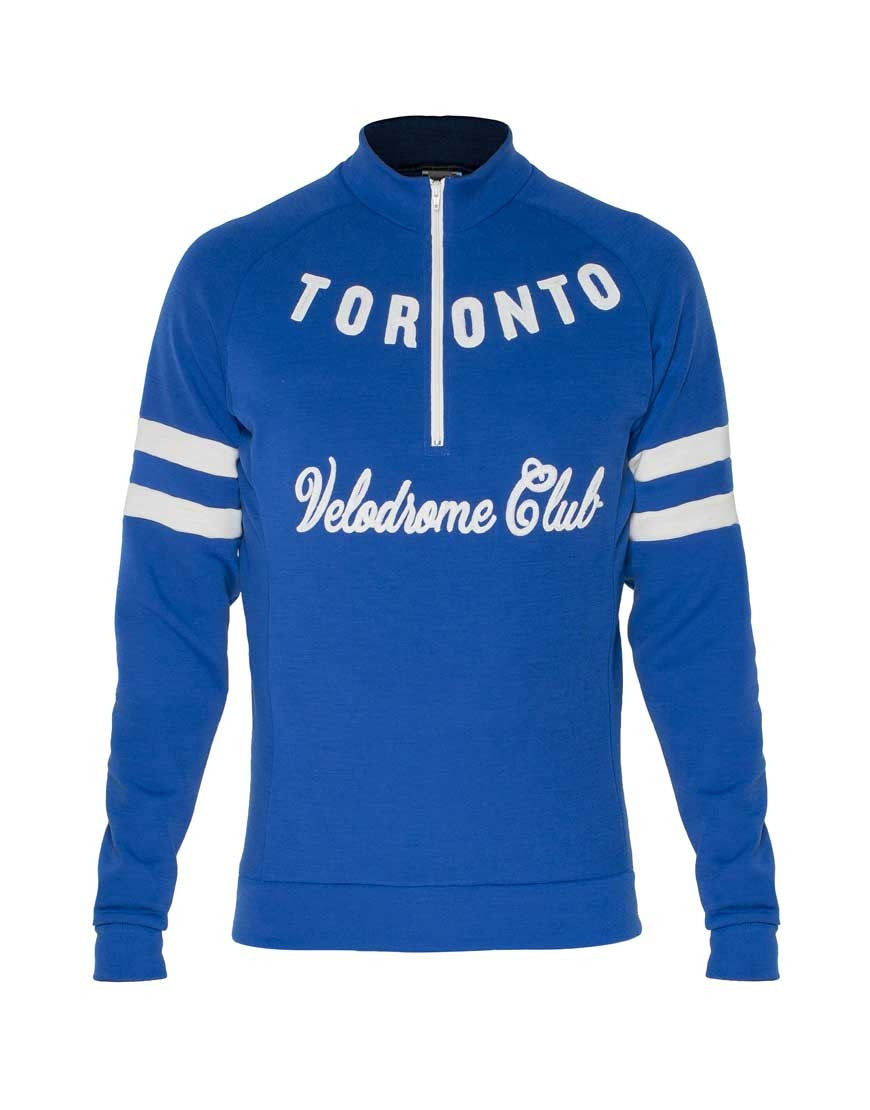 Toronto Velodrome Club custom merino wool cycling jersey