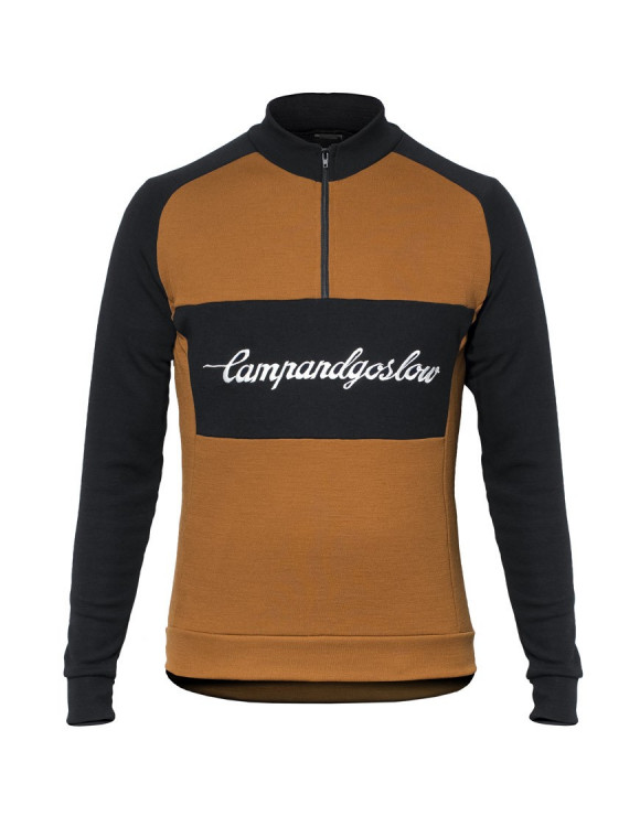 Camp & Go Slow Custom Merino Wool Cycling Jersey