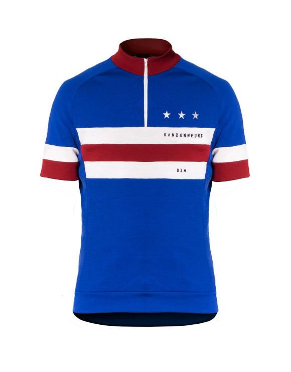 Randonneurs USA Maillot Ciclismo Personalizado de lana merina