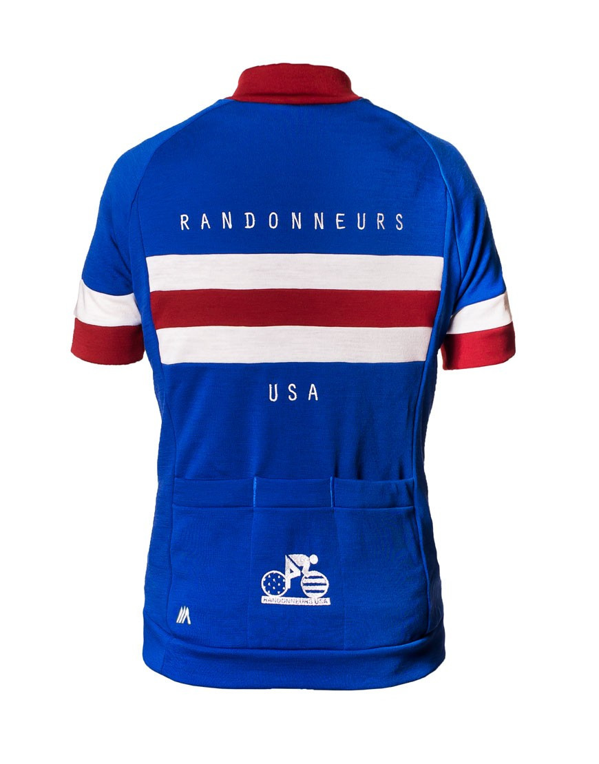 Randonneurs USA Custom Merino Wool Cycling Jersey