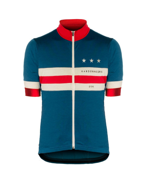 Randonneurs USA custom wool cycling jerseys with lightweight merino wool