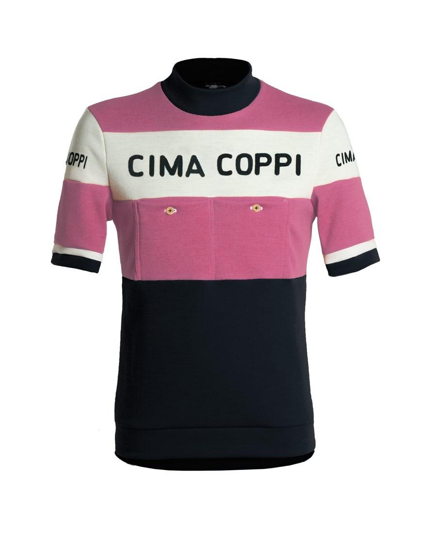 Maillot de ciclismo clásico con bordado en cadeneta - color rosa