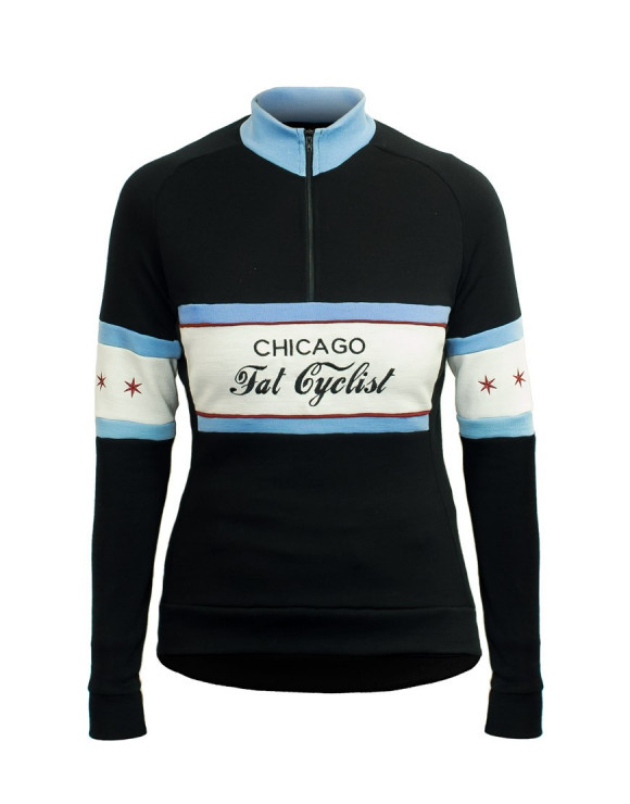 Chicago Fat Cyclist Custom Merino Wool Jersey
