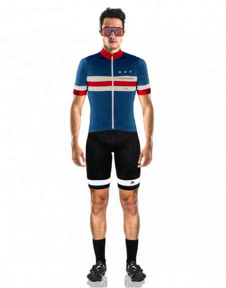 Randonneurs USA custom wool cycling jerseys with lightweight merino wool