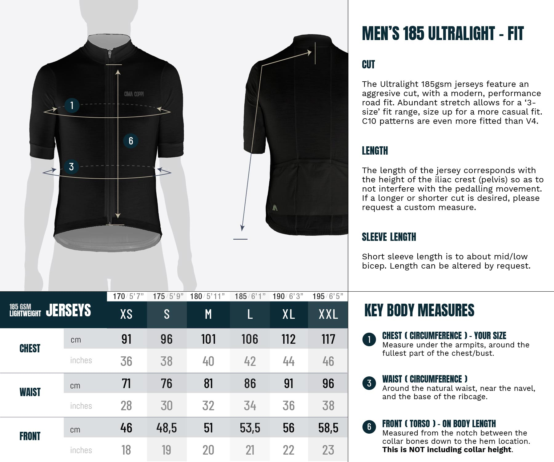 Ultralight Jersey - Mens Sizing