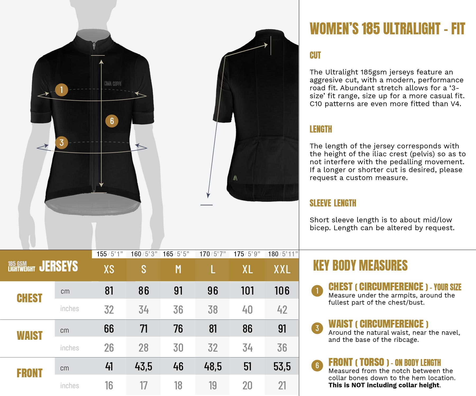 Ultralight Jersey - Womens Sizing