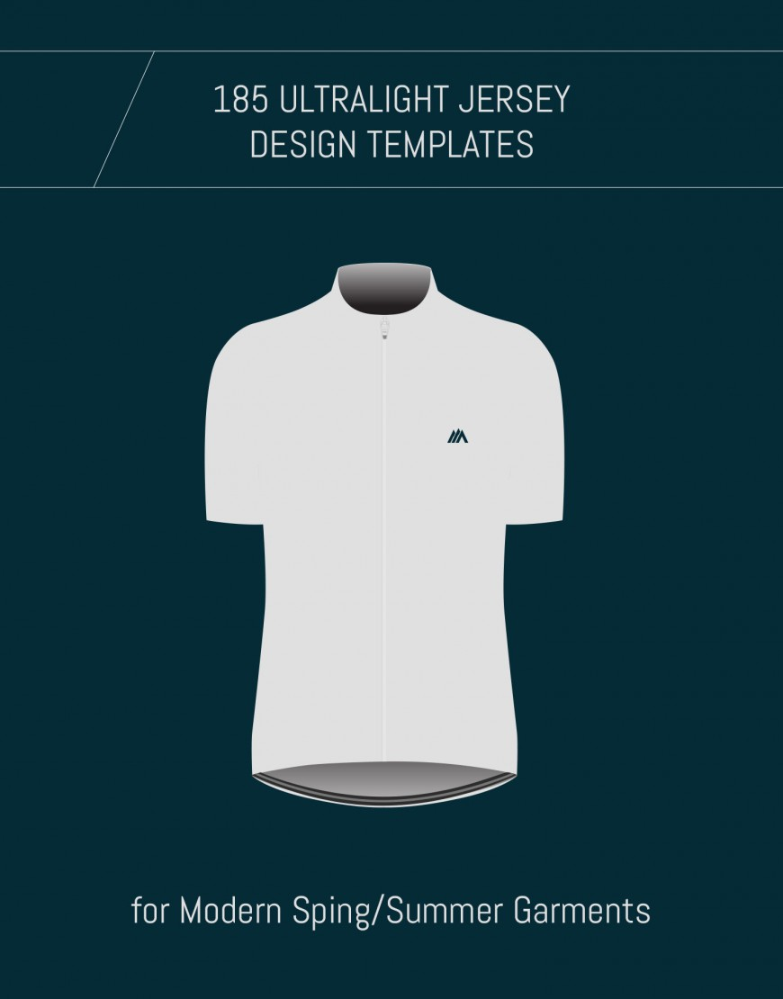Template for Custom Ultralight Merino Cycling Jerseys