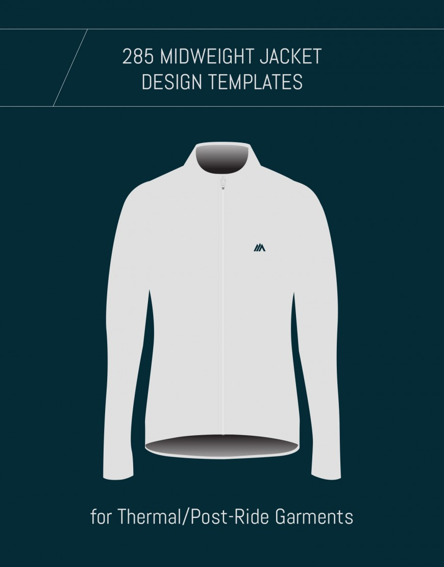 Tempalte for Custom Wool Cycling Jackets and Hoodies