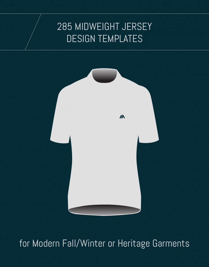 Template for Custom Midweight Merino Cycling Jerseys